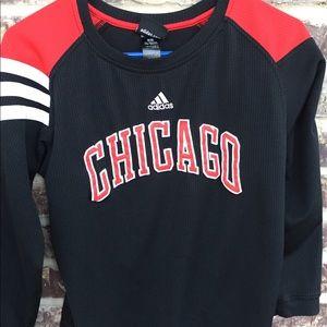 Adidas Chicago Bulls Youth Large Long Sleeve Shirt
